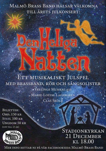 Den Heliga natten. Malmö Brass Bands julkonsert